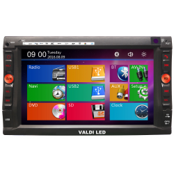 Radio Doble dim gps,bluetooth y sd