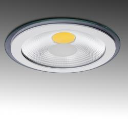 Foco Downlight LED Circular COB con Cristal Ø197Mm 15W 1200Lm 30.000H