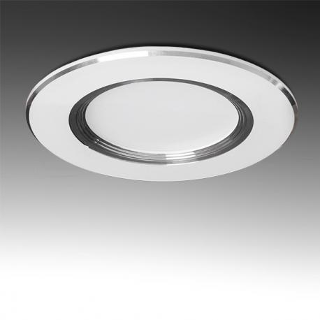 Foco Downlight LED Ø98Mm Aro Plateado 3W 240Lm 30.000H - Imagen 1