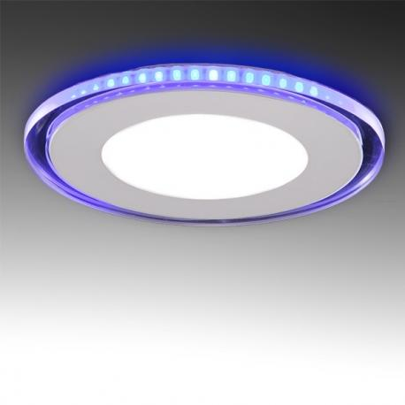 Foco Downlight LED Circular con Cristal Duo (Blanco/Azul) Ø160Mm 15W 1200Lm 30.000H - Imagen 1