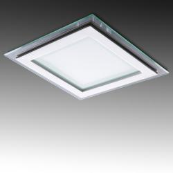 Foco Downlight LED Cuadrado LED con Cristal 200X200Mm 18W 1500Lm 30.000H