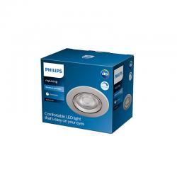 "Downlight LED Philips ""Sparkle"" Circular 5,5W 350Lm Niquelado 2700K [PH-929002373920]"