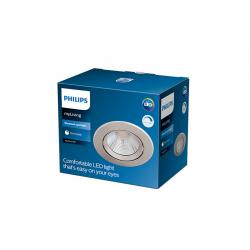"Downlight LED Philips ""Sparkle"" Circular 5,5W 350Lm Niquelado 2700K [PH-929002374320]"