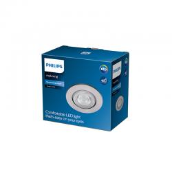 "Downlight LED Philips ""Taragon"" Circular 4,5W 380Lm Niquelado 2700K [PH-929002374720]"