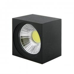 Foco Downlight LED de Superficie COB Cuadrado Negro 57X57Mm 3W 270Lm 30.000H