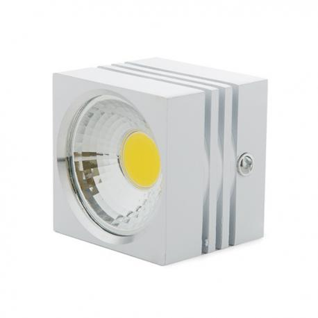 Foco Downlight LED de Superficie COB Cuadrado Blanco 57X57Mm 3W 270Lm 30.000H - Imagen 1