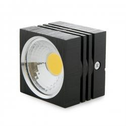 Foco Downlight LED de Superficie COB Cuadrado Negro 57X57Mm 3W 270Lm 30.000H - Imagen 1