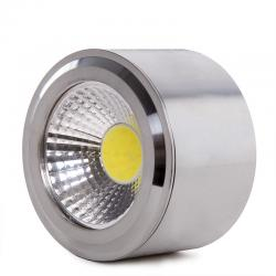 Foco Downlight LED de Superficie COB Circular Niquel Satinado Ø68Mm 5W 450Lm 30.000H