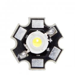 LED High Power 35X35 con Disipador 1W 120Lm 50.000H - Imagen 1