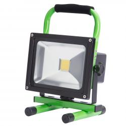Foco Proyector LED IP65 Batería Recargable 20W 2000Lm 30.000H