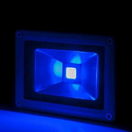 Foco Proyector LED IP65 Brico 10W 850Lm 30.000H Azul - Imagen 1