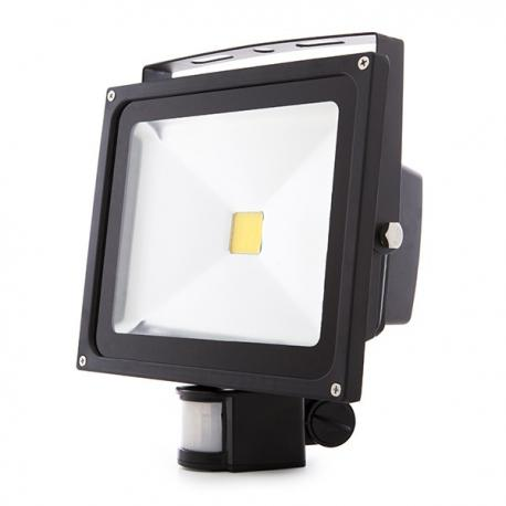 Foco Proyector LED IP65 Detector Movimiento 30W 2700Lm 30.000H - Imagen 1