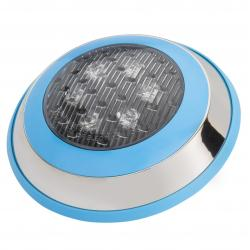 Foco de Piscina de LEDs Montaje Superficie Ø230Mm 6W Multicolor con Mando